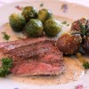 Thumbnail image for Valentine's Day Dinner for Two – Pan Seared Rib Eye Steak with Sherry Cream Sauce