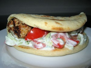 Greek Chicken Pita with Tzatziki Sauce