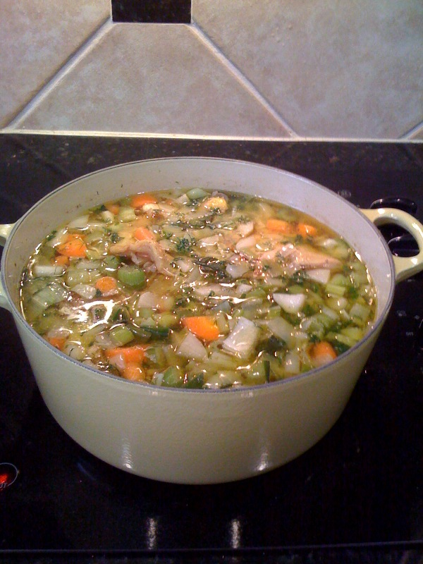 Easy vegetable soup recipe with chicken