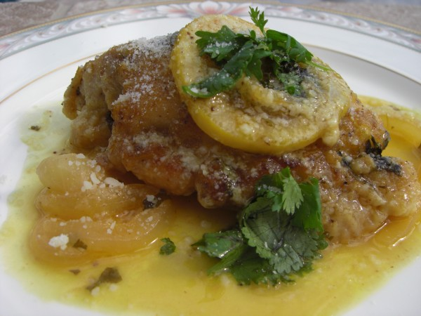 Recipe for Chicken Thighs in Lemon Sauce