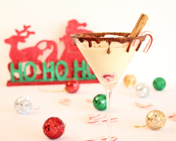 Italian Eggnog Martini-A Holiday Cocktail