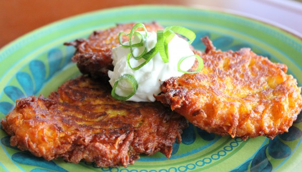 Post image for Sweet Potato Latkes With Apples and Onions