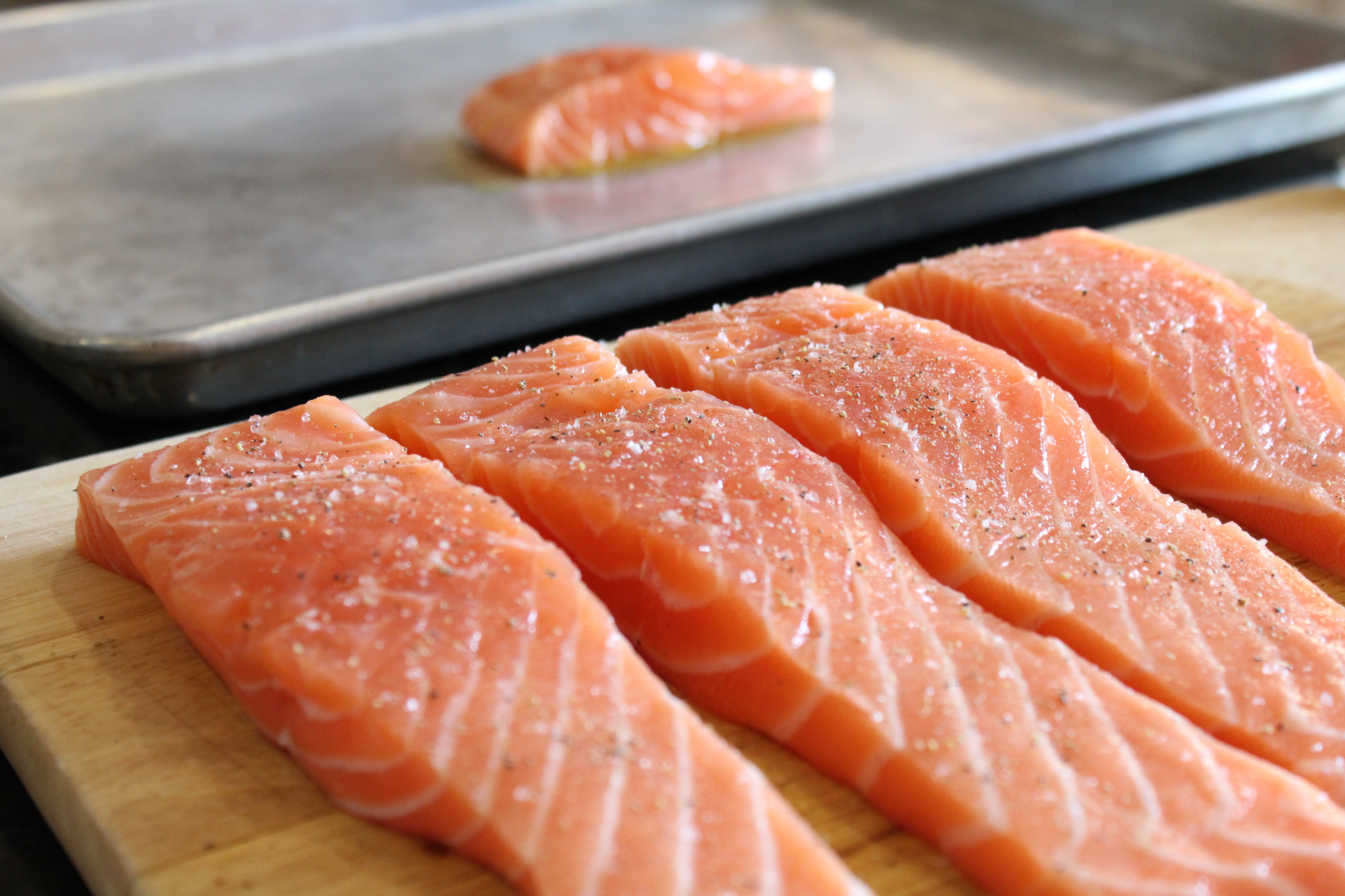 Once salmon is ...