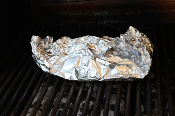 Grilled fish in foil