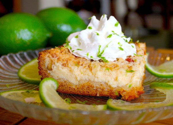 Key Lime Cream Cheese Crumble Cake