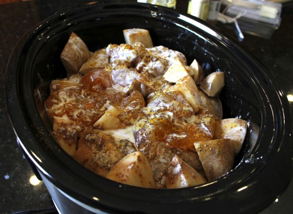 Indian Inspired Crock Pot Curry Chicken