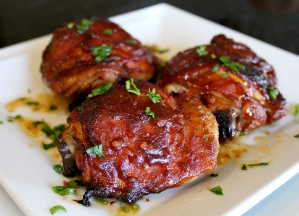 Oven Roasted Chicken With Apple Butter Barbecue Sauce