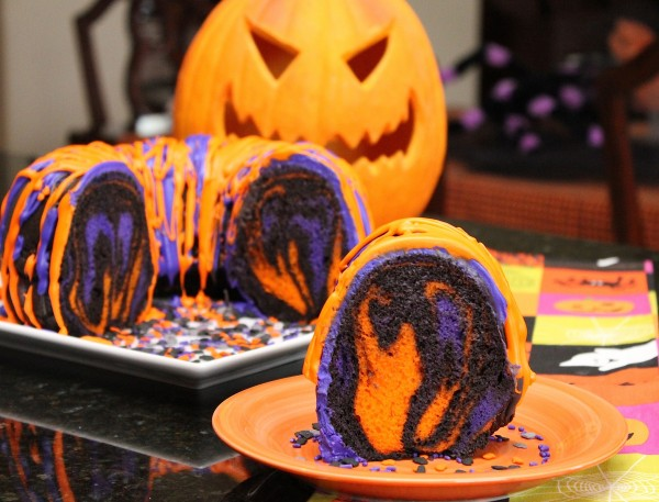 Post image for Amazing Halloween Rainbow Party Bundt Cake Recipe