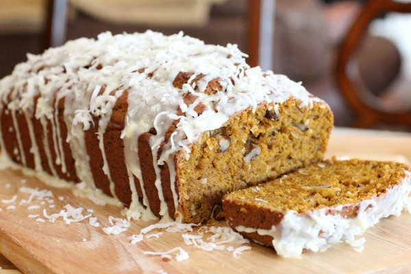 Post image for Coconut Pumpkin Bread – Pumpkin Bread with a Twist – Thanksgiving Dessert Ideas