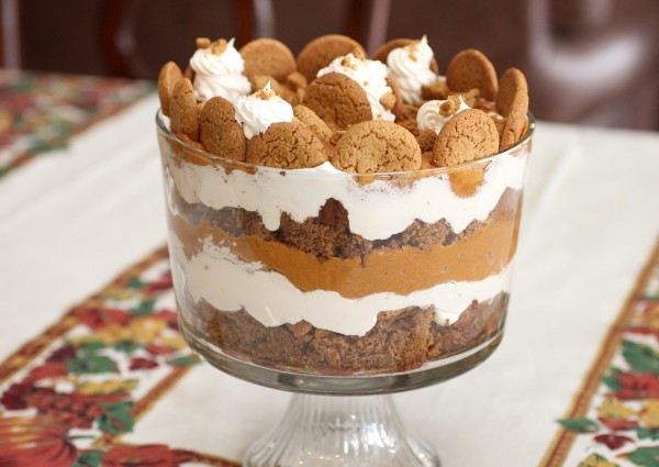 Holiday Pumpkin Gingerbread Trifle