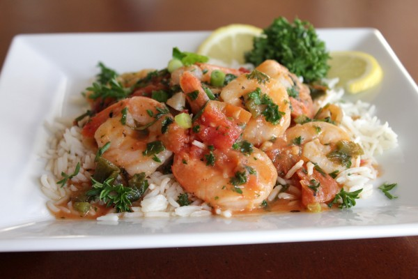 Spicy Shrimp Scampi with Organic Muir Glen® Tomatoes