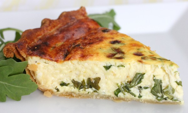 Post image for Ricotta and Arugula Quiche
