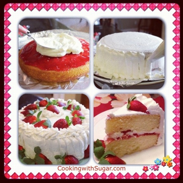 Post image for Sugar's Delicious Strawberry Whipped Cream Cake – An Ultra Rich Strawberry Shortcake