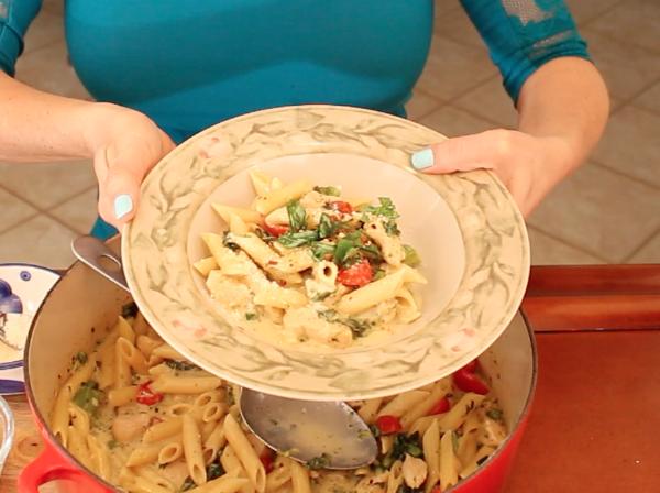 Post image for Easy One-Pot Pasta Chicken Alfredo Primavera Recipe